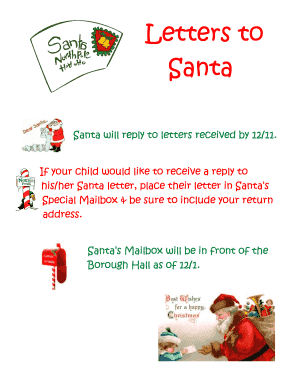 Santa Will Reply To Letters Received By 12 11