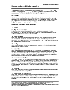 Fillable mou contract sample edit print download form this is a memorandum of understanding mou dated as of 20 spiritdancerdesigns Image collections