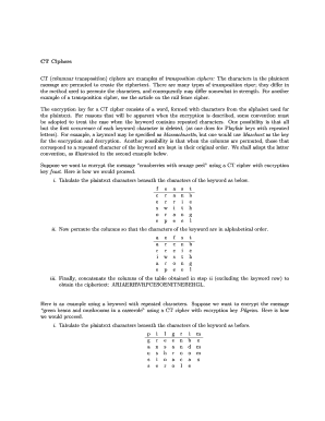 Editable transposition cipher example - Fill Out, Print & Download