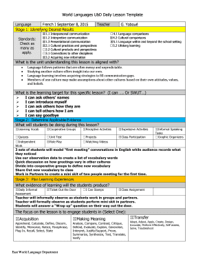 Ubd Daily Lesson Plan Template Fillable Printable Top KWL - Ubd lesson plan template