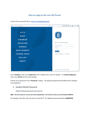 Fillable Online How to Login to the new SIS Portal Fax Email