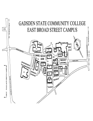 Gadsden State Campus Map.Fillable Online East Broad Street Campus Map Fax Email Print Pdffiller