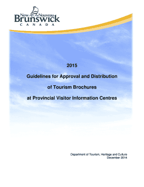Guidelines for Approval and Distribution