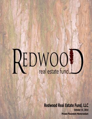 Editable private placement memorandum real estate fund