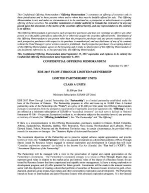 Editable offering memorandum template - Fill Out, Print & Download