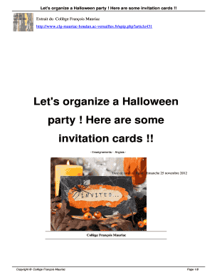 Printable Free Halloween Invitation Templates Microsoft Word
