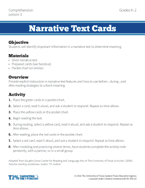 features of a narrative text to Download - Editable