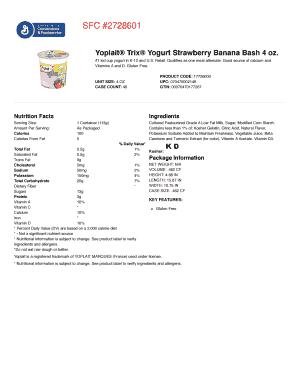 Yoplait Trix Yogurt Strawberry Banana