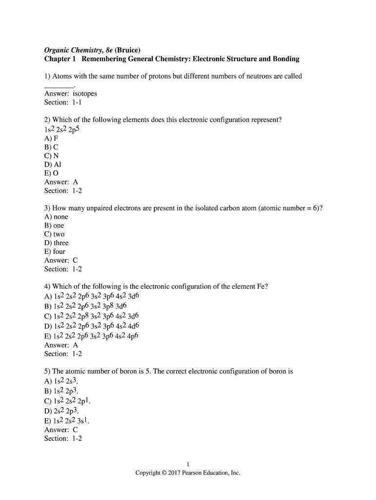Organic Chemistry, 8e (Bruice) Fill Online, Printable, Fillable