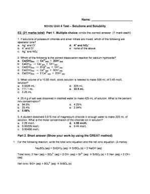Sch3u Unit 1 Test