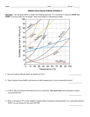 solubility curve practice problems worksheet part 2 answers - Fill