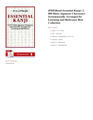essential kanji pdf download to Download - Editable, Fillable