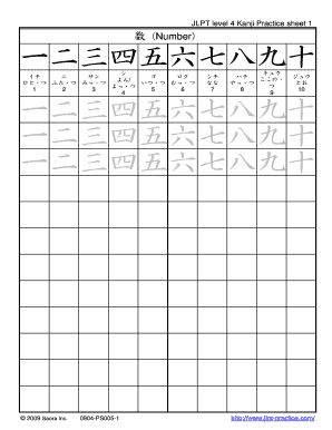 jlpt n4 kanji list pdf to Download - Editable, Fillable