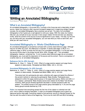 example of an annotated bibliography apa