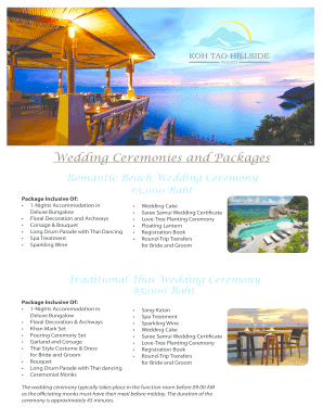 editable free wedding menu template pdf fill print download