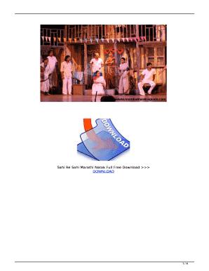 Sahi Re Sahi Marathi Natak Full Free Download Fill Online, Printable