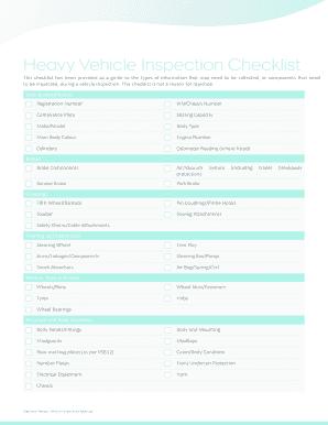 Fillable online 2004 class dinner tucson high school - Vehicle exterior inspection checklist ...