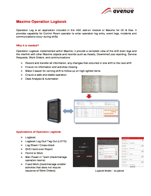 Maximo operation logbook fill online printable fillable blank implemented maxwellsz
