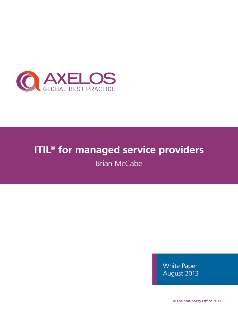 ITIL for managed service providers Fill Online, Printable
