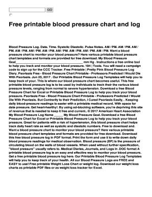 printable blood pressure and pulse log