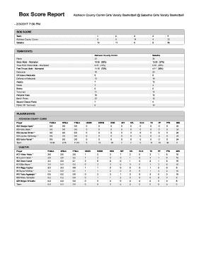 basketball stats sheet pdf - Editable, Fillable & Printable