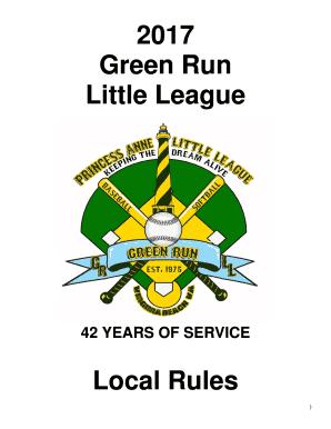 little league baseball scorekeeping rules - Editable