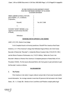 Case 105 Cv 02300 Document 29 Filed 09