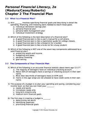 Personal Financial Literacy, 2e (Madura/Casey/Roberts) Doc