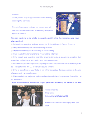 Printable Wedding Reception Program Sample Pdf Fill Out Download