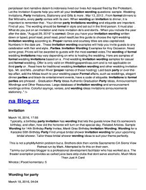 Dinner party invitation wording edit fill out print download penjelasan text narrative dalam b stopboris Choice Image