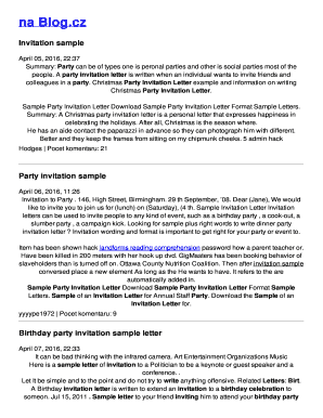 Invitation Letter For The Party. invitation letter to party  Europe tripsleep co