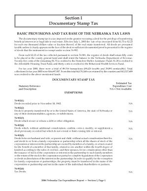 BASIC PROVISIONS AND TAX BASE OF THE NEBRASKA LAWS