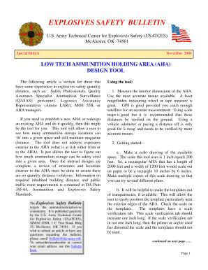 Explosives safety bulletin fill online printable fillable blank ahause maxwellsz