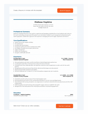 Er Registration Clerk Resume Sample Resumes LiveCareer