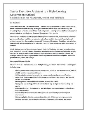 Senior Executive Assistant Cover Letter. Senior Executive Assistant To A  High Ranking