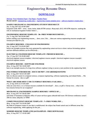 engineering resume template download