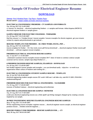 Sample Copy Of Resume For Freshers Sample Copy Of Resume For