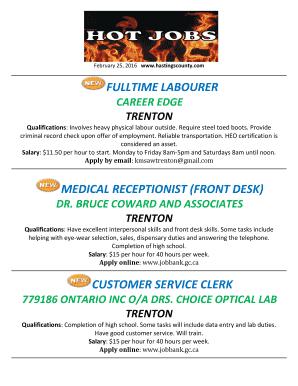 front desk receptionist resume skills - Fill Out Online