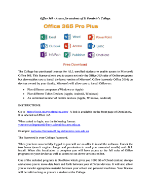 office 365 access - Fillable & Printable Samples & Templates