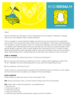 We are handing you the keys to CSUs Snapchat account today