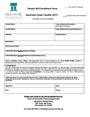 Ach Vendor Payment Form Template  Enrollment Form Format