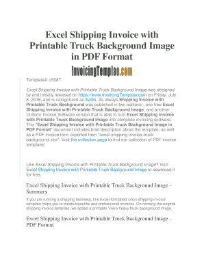 trucking invoice template