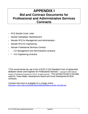 Professional And Administrative Services Contracts Doc Template