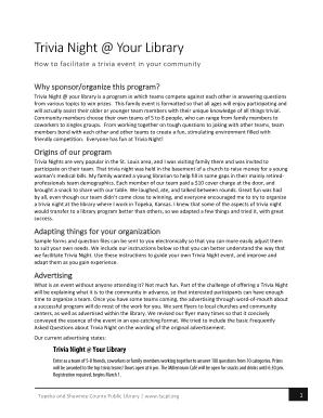 diy trivia questions - Edit, Print, Fill Out & Download