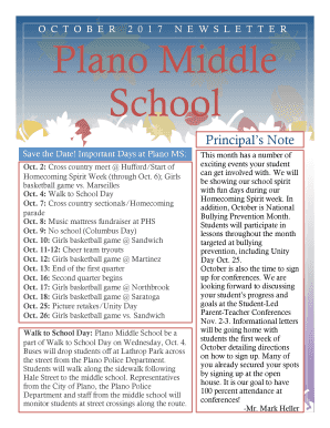 Fillable Online Plano Middle Fax Email Print - PDFfiller