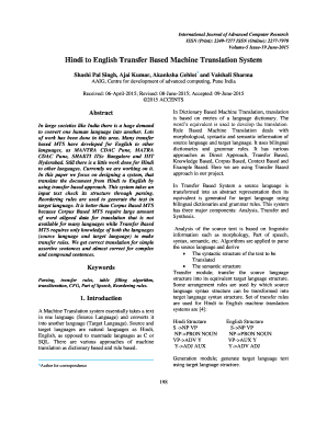 Hindi to English Transfer Based Machine Translation System