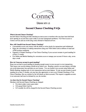 pnc second chance checking - Edit, Print, Fill Out