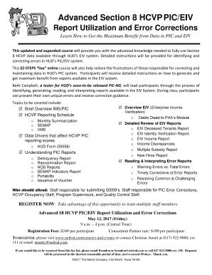 Advanced Section 8 HCVP PIC/EIV Fill Online, Printable