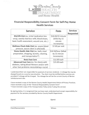Home Health Consent Form Fill Out Online Forms Templates