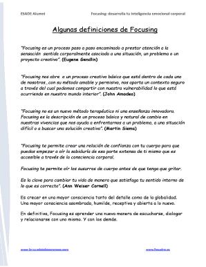 fillable online algunas definiciones de focusing fax email print